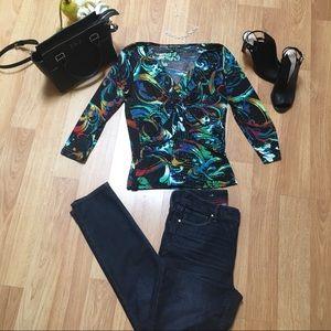 Cable & Gauge blouse, Large